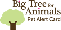 Big Tree Pet Alert Card